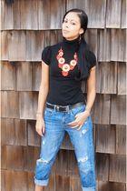 black Target shirt - orange John Jude necklace - blue American Eagle jeans