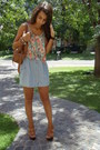 Camel-nine-west-bag-floral-crop-top-thrifted-top-sky-blue-flea-market-skirt-