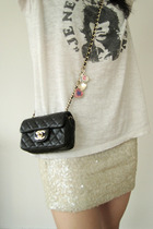 Chanel purse -  t-shirt - H&M skirt