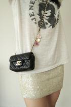 Chanel purse -  t-shirt - H&M skirt
