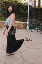 vintage Coach purse - Steve Madden sandals - Forever 21 skirt - Victorias Secret