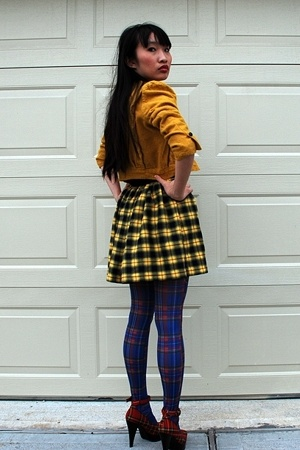emanuel ungaro jacket - Secondhand skirt - Secondhand tights - michael antonio s