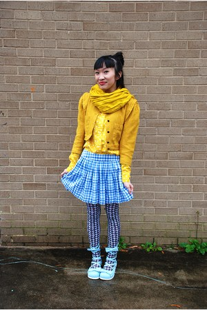 RTBU shoes - Emmanuel Ungaro jacket - Target scarf - Betsey Johnson stockings -