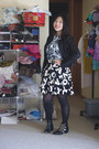 White-american-apparel-top-black-nasty-gal-skirt