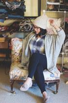 silver modal shawl American Apparel cardigan