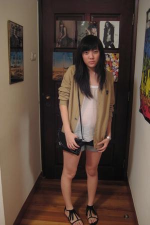 PLAY Commes Des Garcon sweater - Topshop purse - - moto for Topshop shorts