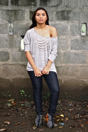 off white bone OS necklace - gray Oxygen jeans