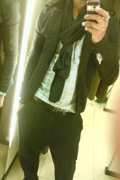 Zara scarf - Zara shirt - Zara jacket - Zara pants - Zara belt
