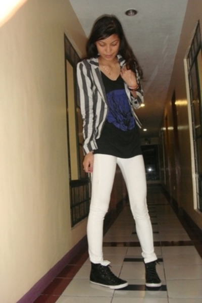 forever 21 blazer - Topshop top - Bloom jeans - Zara shoes