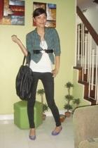 babo blazer - top - Jag jeans - Zara purse - Tomato belt - accessories