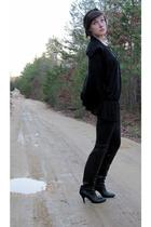 black Nine West sweater - black Old Navy shirt - black Miley Cyrus for Wal-mart