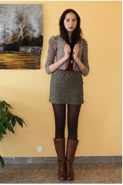 light brown lace blazer