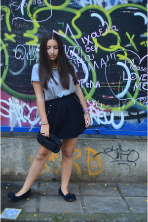 Uterque top - pull&bear skirt - Stradivarius necklace