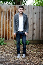 H&M cardigan - Zara shoes - Levis jeans - American Apparel t-shirt