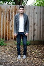 Zara-shoes-levis-jeans-h-m-cardigan-american-apparel-t-shirt