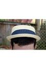 Teal-top-beige-straw-urban-outfitters-hat-camel-zara-men-pants