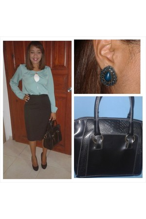 aquamarine 100 polyester suiteblanco blouse - black DB DK shoes