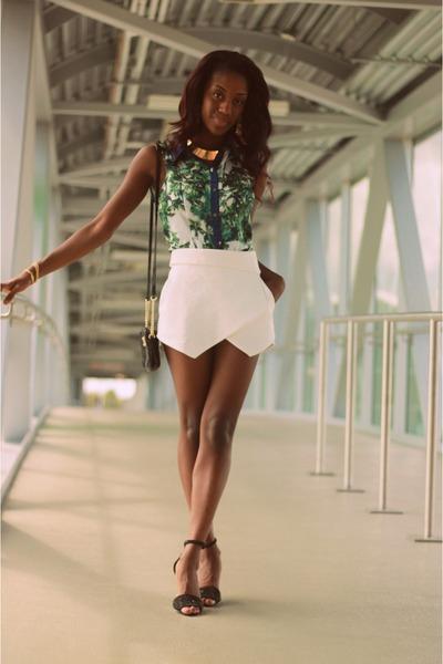 skort Zara skirt - peplum Forever 21 shirt - Michael Kors purse