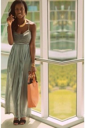 American Apparel pants - Ebay bag - glittery heels Zara heels