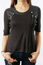 dark gray kpopsicle top