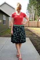 red Gap t-shirt - green Juicy Couture skirt - red Steve Madden shoes