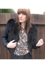 Brown-leatherlaceandvelvet-top-black-hand-me-down-jacket-black-forever-21-sh
