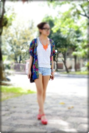 glasses - shorts - cardigan - accessories