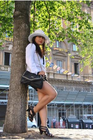 lipstick kiko accessories - Mango purse - camieu blouse - Pimkie heels