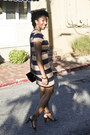 Striped-h-m-dress-leopard-target-belt-taret-wallet