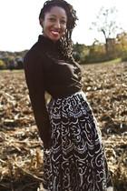 black American Apparel blouse - black vintage skirt - black Jessica Simpson shoe