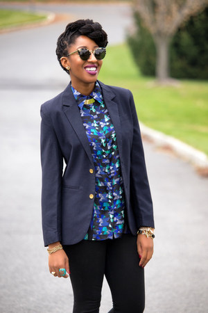 blue Target blouse - navy Urban Outfitters blazer