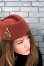 Tawny-vintage-hat-black-rw-co-blazer-black-urban-outfitters-skirt-brown-