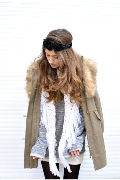 Mango jacket - Zara shirt - vintage scarf - Accessorize accessories