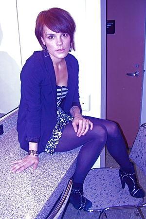 black Madison Harding shoes - black Urban Outfitters blazer