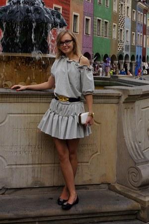 silver FiFi dress - white CCC bag