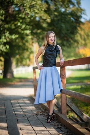 black Zara heels - violet Mohito skirt