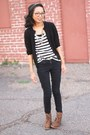 Brown-leopard-print-forever-21-boots-black-skinny-bdg-jeans-white-h-m-t-shir