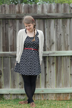 black polka dotted wal-mart dress - black Target tights