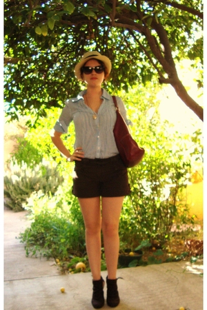 shorts - shoes - hat - blouse
