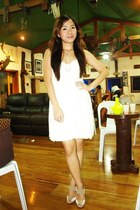 white 168 dress - beige Charles & Keith shoes - silver Forever 21 accessories -