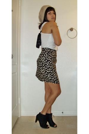 J-Lo top - vintage skirt