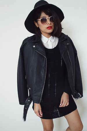 moto jacket Urban Outfitters jacket - knitblack sweater