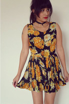 sunflower dress vintage dress