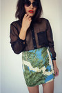 Printed-vintage-skirt