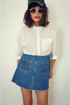 vintage skirt - whitecollar blouse