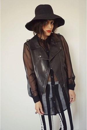 leather vintage vest