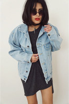 H&M dress - denim oversized jacket