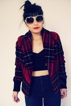Plaid Crop Jacket jacket
