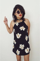 halter flowers dress