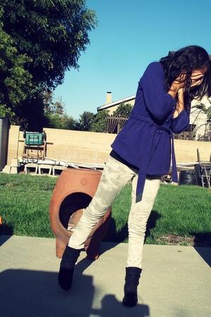 Splendid top - Forever21 coat - Levis pants - boots